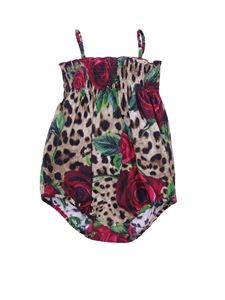 Dolce & Gabbana Jr - Rose and Leo printed rompersuit