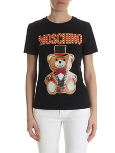Moschino - T-shrt in black Teddy Circus cotton jersey