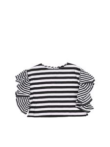 Monnalisa - Striped top with ruffles