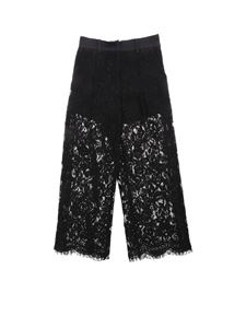 Monnalisa - Trousers in black lace with sequined detail