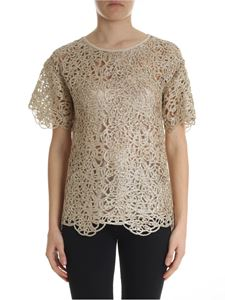 Moschino Boutique - Golden pierced T-shirt