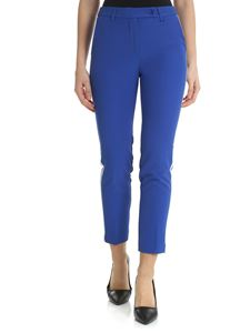 Blugirl - Blue trousers with contrasting side bands