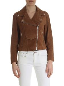 Simonetta Ravizza - Brown suede biker jacket with fringes