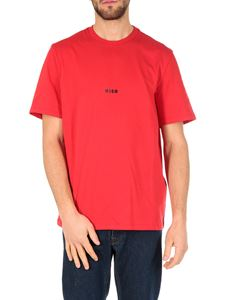 MSGM - Red T-shirt with Micro Logo