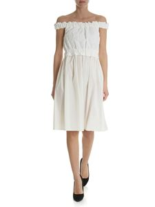 Blugirl - Ivory dress in broderie anglaise