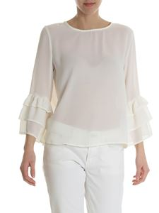 Blugirl - Ivory blouse with flounces