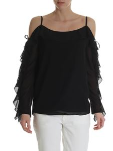 Blugirl - Black off-shoulder top with ruffles