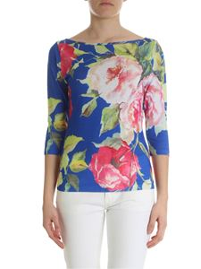 Blugirl - Bluette pullover with floral print