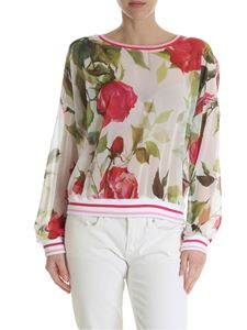 Blugirl - Ivory white blouse with floral print