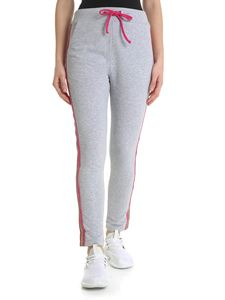 Blugirl - Gray trousers with glittery side bands
