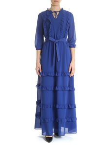 Blugirl - Blue dress with ruffles