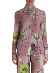 Blumarine - Shirt in shades of pink with floral print
