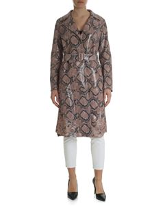 Blumarine - Reptile printed leather trench