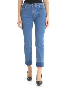 Fay - Blue bootcut jeans with Fay logo