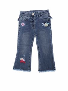 Monnalisa - Blue jeans with The Little Mermaid embroidery