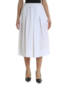 Fay - White midi skirt with pleats