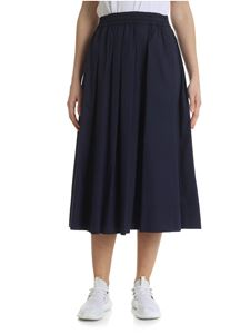 Fay - Blue midi skirt with pleats