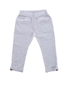 Moncler Jr - Grey pants with turned-up bottom