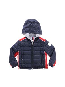 Moncler Jr - Blue and red Varo down jacket