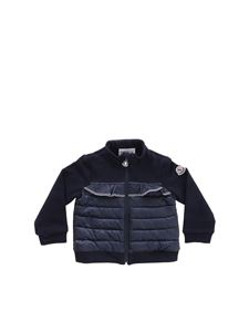 Moncler Jr - Blue sweatshirt with padded detail
