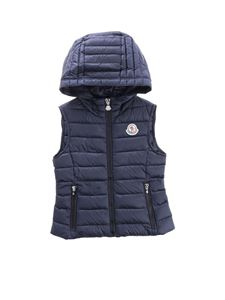 Moncler Jr - Sucre sleeveless down jacket in blue
