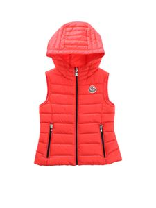 Moncler Jr - Sucre sleeveless down jacket in red