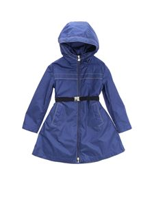 Moncler Jr - Dacca long jacket in blue