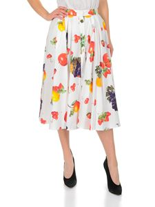 MSGM - White skirt with fruit print