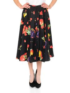 MSGM - Black skirt with fruit print