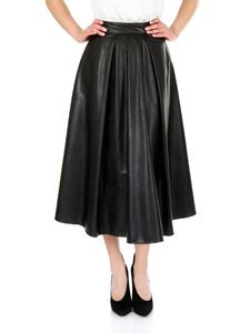 MSGM - Black eco-leather skirt
