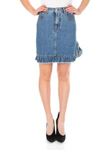 MSGM - Ruffled denim skirt