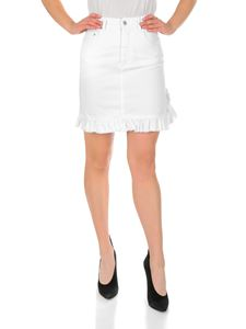 MSGM - Ruffled white skirt