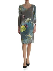 Blumarine - Dress in shades of gray with floral print