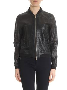 Blugirl - Black pierced leather jacket