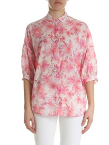 Ballantyne - Shirt in shades of pink with hibiscus print