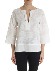 Ballantyne - Ivory blouse in broderie anglaise