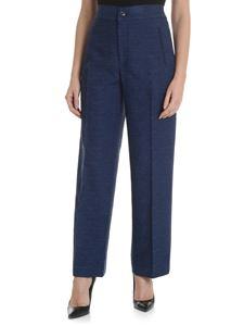 Fay - Blue palazzo trousers