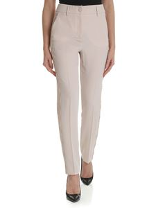 Blumarine - Pink trousers with lace details