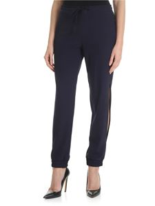 Blugirl - Blue jogging trousers in crepe