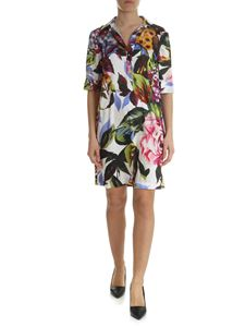 Blugirl - Floral printed satin dress