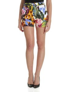 Blugirl - White shorts with contrasting floral print