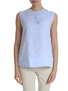 Fay - Top in light blue pure linen