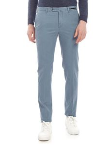 PT01 - Super slim trousers in light blue woven fabric