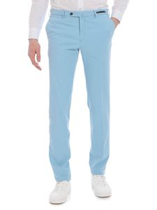 PT01 - Super slim trousers in light blue stretch cotton