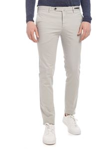 PT01 - Super slim gray trousers with micro pattern