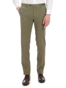 PT01 - Super slim trousers in green woven fabric