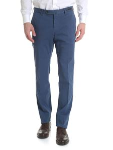 PT01 - Pantalone super slim blu denim in cotone stretch