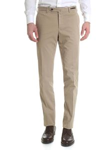 PT01 - Super slim brown stretch cotton trousers