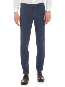 Briglia 1949 - Blue denim colro cotton trousers