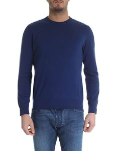 Ballantyne - Blue cotton and cachemire pullover